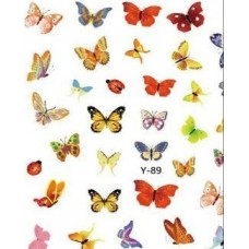 Наклейки Бабочки для ногтей Y-89