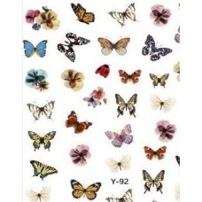 Наклейки Бабочки для ногтей Y-92