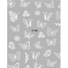 Наклейки Бабочки для ногтей Y-94