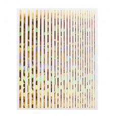 Полоски на ногти Joyful Nail золото голография ассорти, лист 7,5 х 9,5 см
