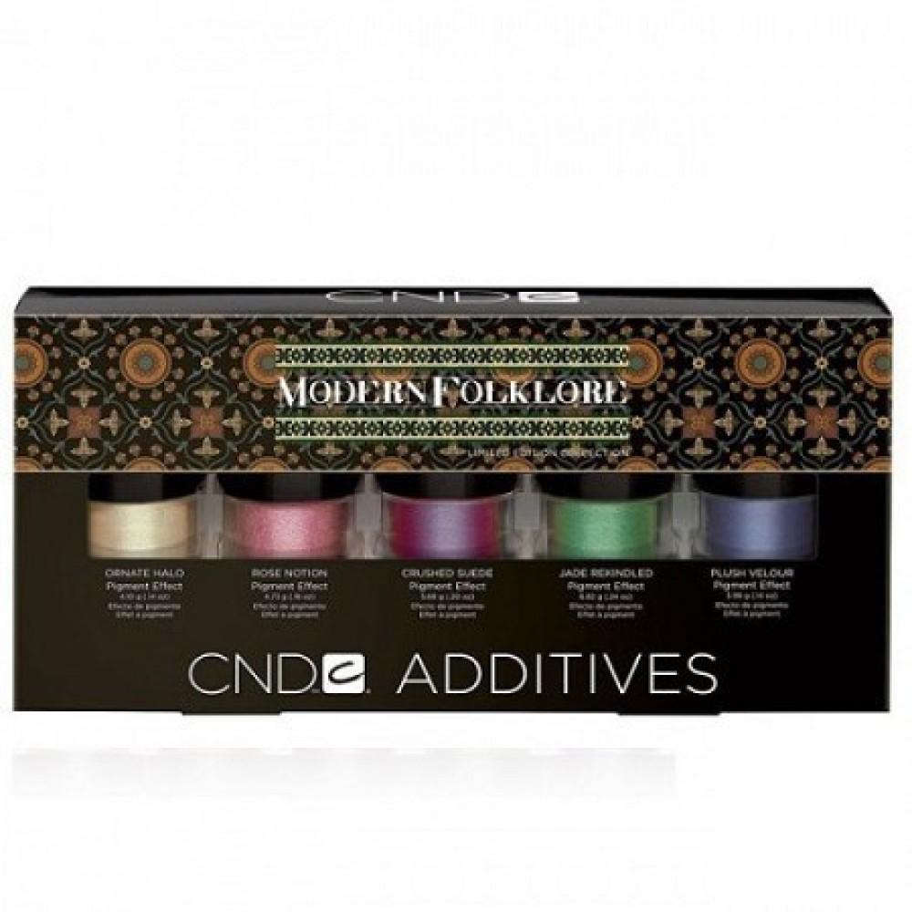 Набор Дизайнерских пигментов CND Additives Collection Modern Folklore 5 шт