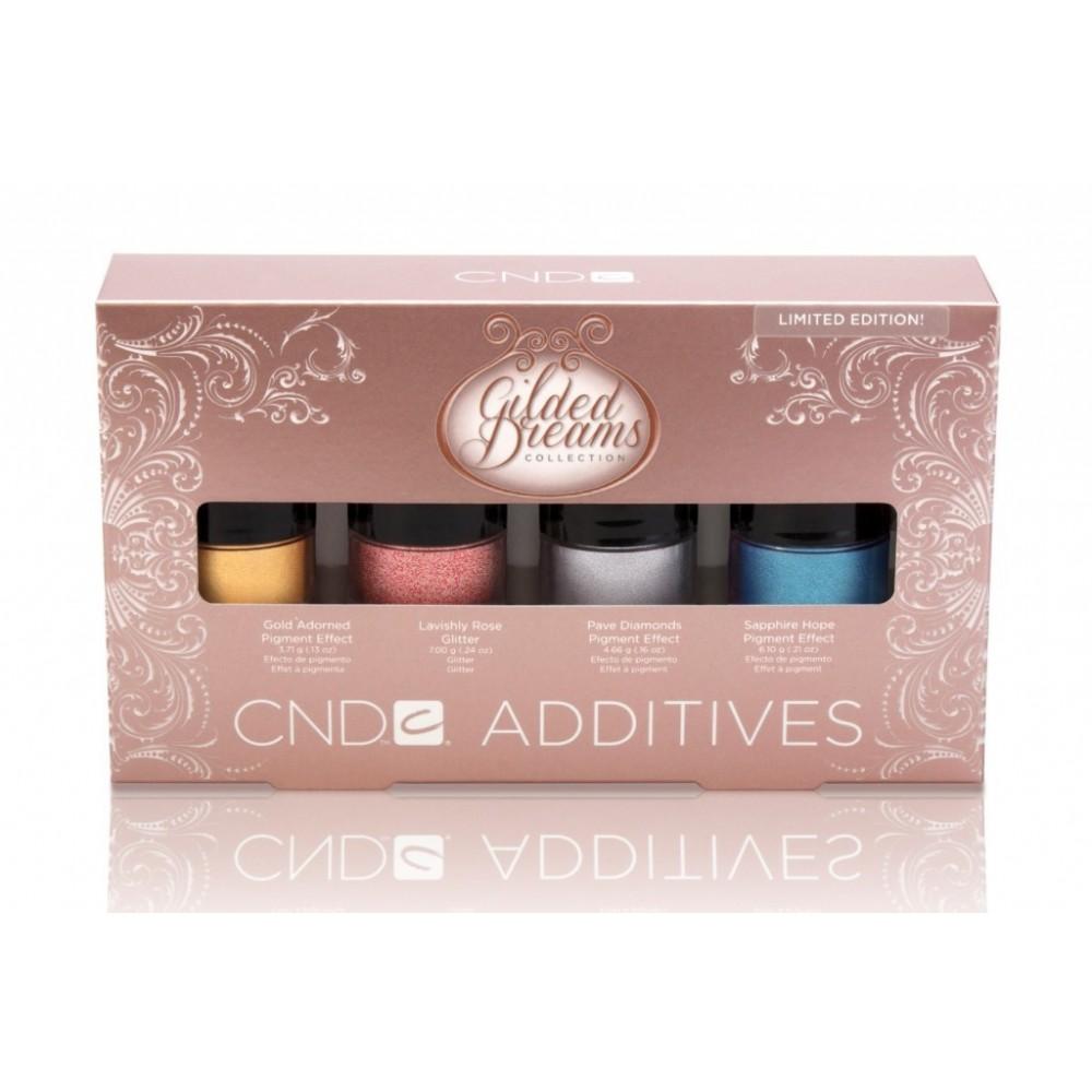 Набор дизайнерских пигментов CND Additives Gilded Dreams 4пр