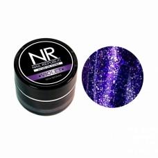 Nail Republic, гель-краска c блестками для ногтей NR Гель-краска мерцающая №3, Violet 7 гр