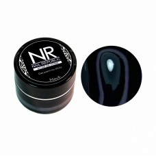Nail Republic, NR гель-краска для ногтей без липкого слоя, Черная 5 гр