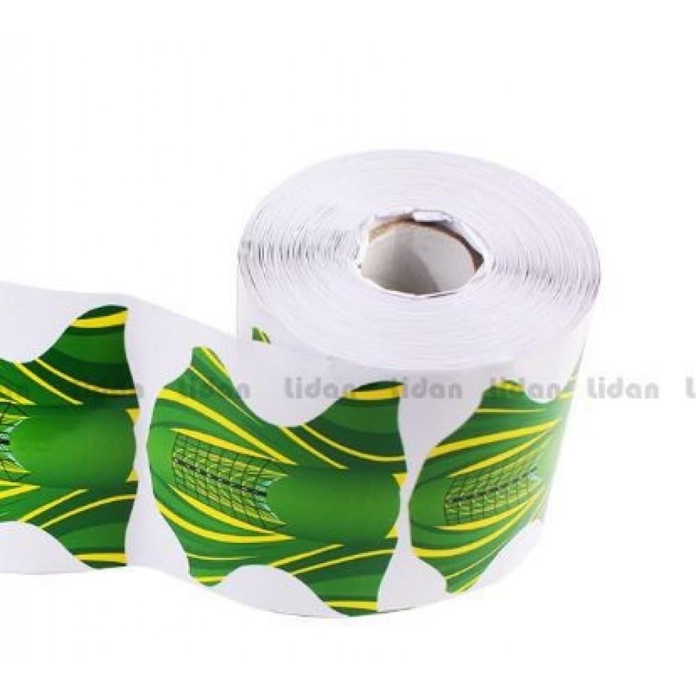 Формы бумажные Зеленые 300 шт рулон