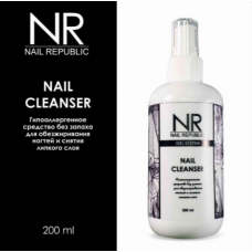 NR, Клинсер, жидкость для снятия липкого слоя NAIL CLEANSER 200 мл