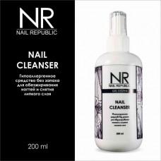 Nail Republic, Жидкость для обезжиривания и снятия липкого слоя cleanser 200 мл