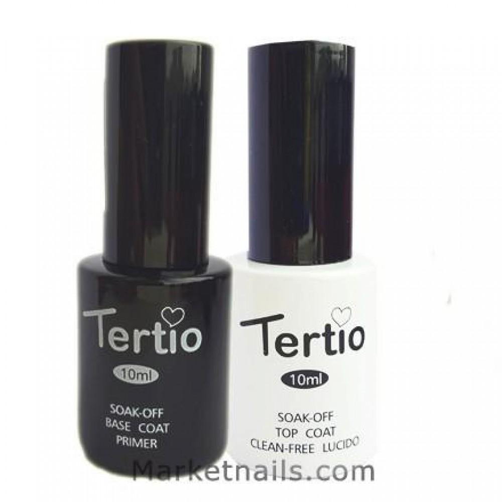 Набор база и топ для гель-лака Tertio Base & Top Clean Free 10 мл.