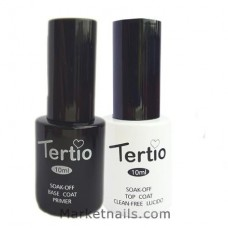 Tertio, Набор база и топ без липкости Base & Top Clean Free 10 мл.