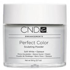 CND Perfect Color Soft White, Пудра акриловая белая Opaque 22 гр