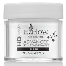 EzFlow HD, Акрил для укрепления ногтей прозрачный 21 гр