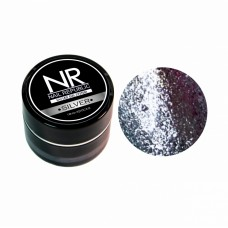 Nail Republic, гель-краска c блестками для ногтей NR Гель-краска мерцающая №1, Silver 7 гр