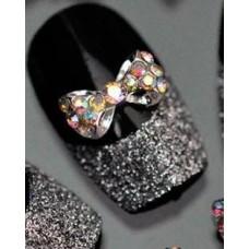 Бабочка для дизайна ногтей с камнями 2 шт