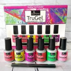 Ezflow Trugel Neon, Набор Шеллак для росписи и рисования на ногтях 6 пр + дотс