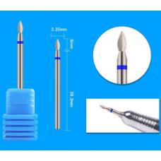 Фреза капля для кутикулы 2.3 мм синяя W1