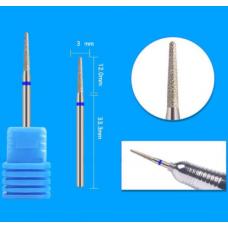 Фреза конус для кутикулы 3 мм cиняя W6