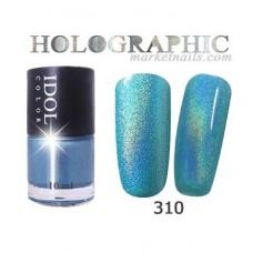 IDOL, Лак для ногтей № 310 голографический 10 мл