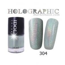 IDOL, Лак для ногтей № 304 голографический 10 мл