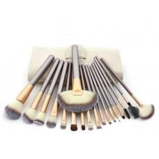 Кисти для макияжа набор 18 шт. c деревянной ручкой