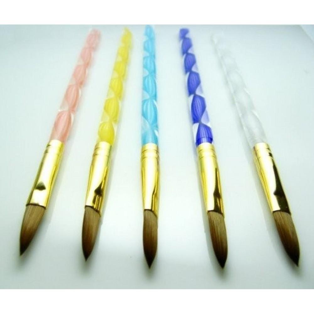 Кисть для акрила №8, №10, №12 ручка ромбик
