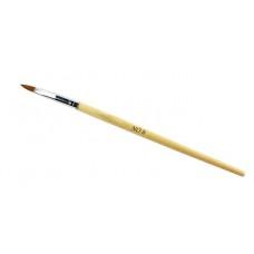 Кисть для акрила синтетическая N 6 деревянная ручка
