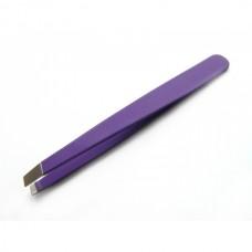 Пинцет для бровей фиолетовый РСТ-1