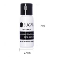 Crystal Slip Solution, Жидкость для смачивания кисти полигеля и удаления липкого слоя Sugar 20 мл