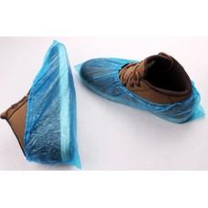 Бахилы одноразовые полиэтиленовые голубые
