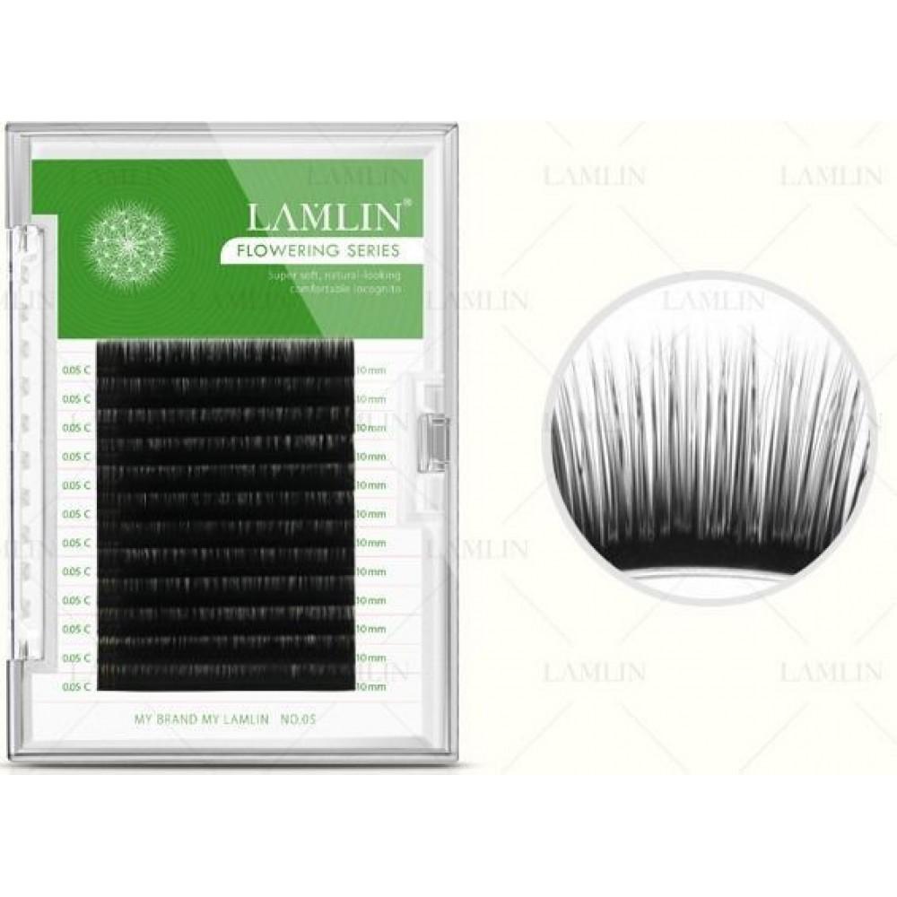 Ресницы на ленте натуральные LAMLIN 0,05 С-10,11,12 мм