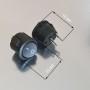 Кнопка питания вкл/выкл для блоков маникюрных аппаратов черная Marathon, Strong, Nail drill и др.