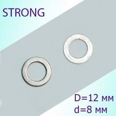 Шайба стальная передней части D 12 mm, d 8 mm